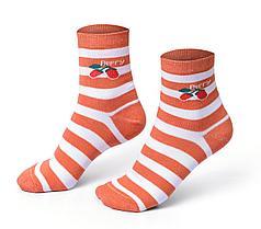 Женские носки в полоску, оранжевые