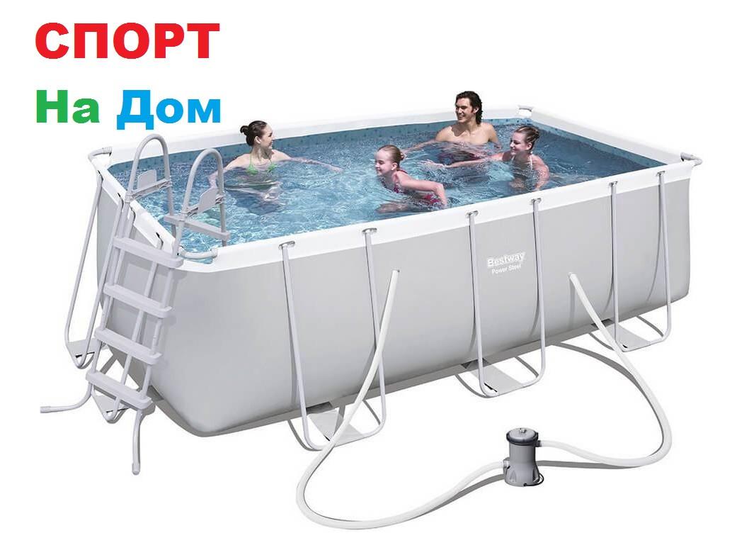Каркасный прямоугольный бассейн Bestwey 56456 (412 х 201 х 122 см, на 8703 литра)