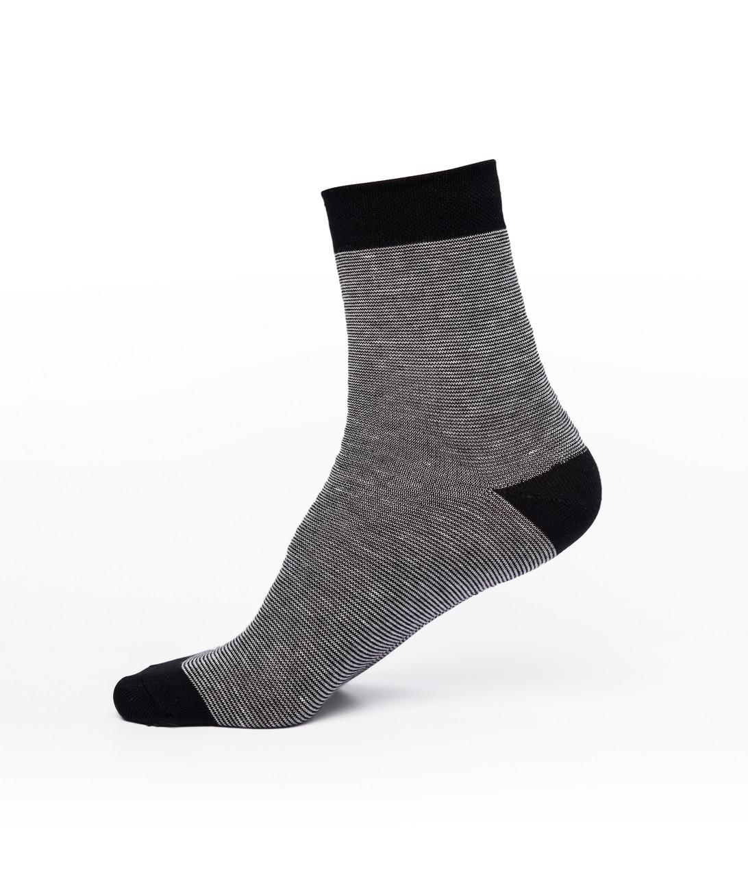 Мужские носки, хлопок, чёрные с белым
