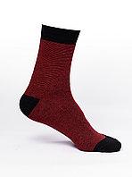 Мужские носки,хлопок, бордовые