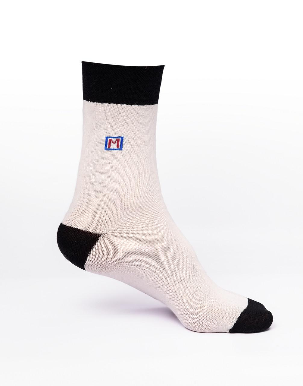 Мужские носки хлопок, белые