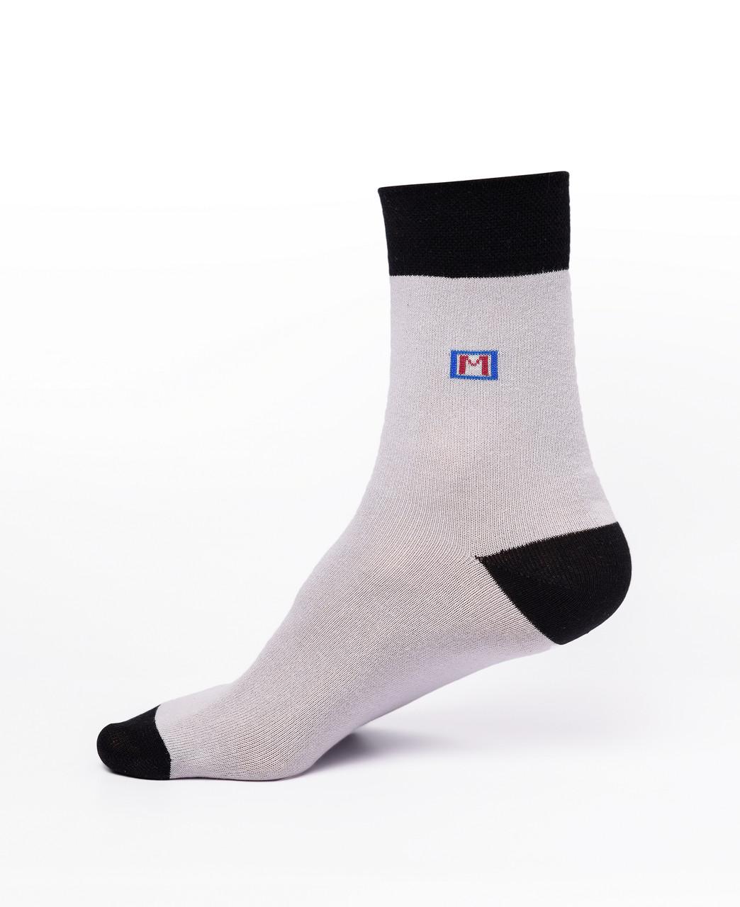 Мужские носки хлопок,серые