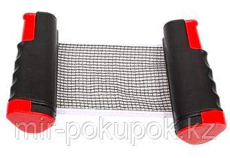 Складная сетка для настольного тенниса автоматическая с кнопочным креплением Pinbo, Алматы