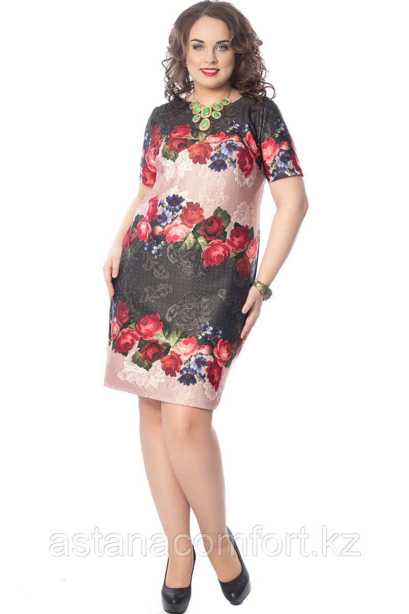 Женское платье полуприлегающего силуэта. Россия. Wisell. Размер: 56