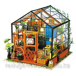 Развивающий интерьерный конструктор Diy House домик для кукол мисс Кэти
