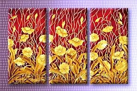 """Картины по номерам """"Золотое плетение цветов"""""""