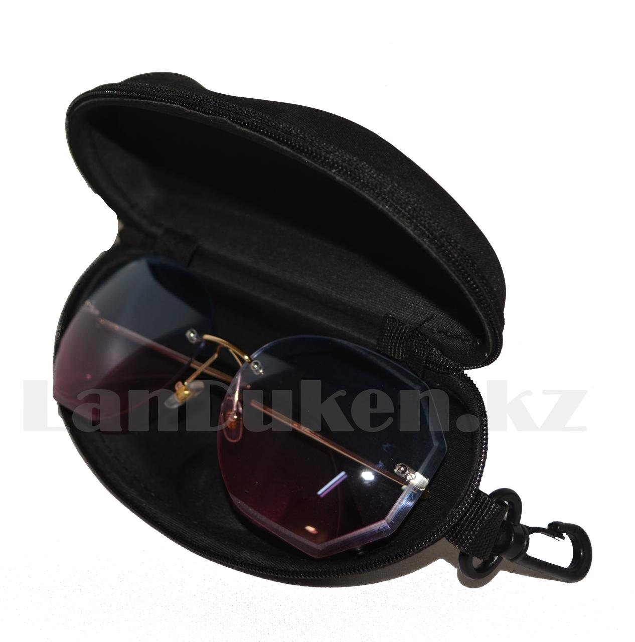 Футляр для очков (чехол) с подвеской,черный - фото 2