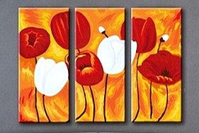 """Картины по номерам """"Красные и белые тюльпаны"""""""