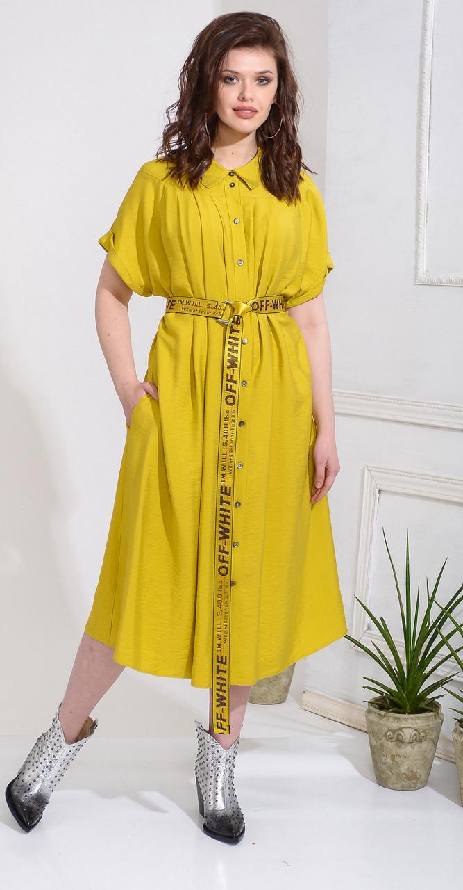 Платье Anna Majewska-А233, желтый, 50