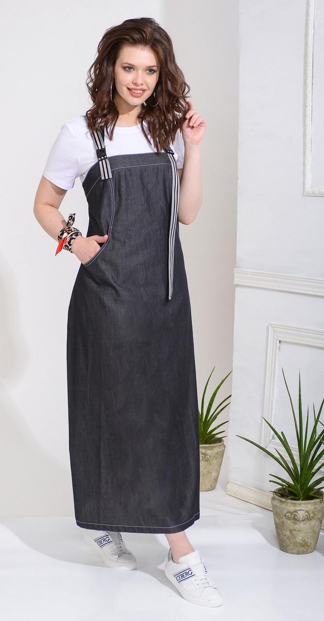 Платье Anna Majewska-А248, темные тона, 46
