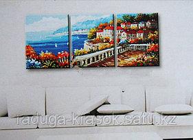"""Картины по номерам """"Городок на побережье"""""""
