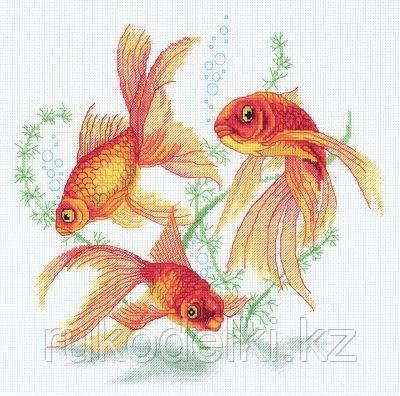 """Набор для вышивания крестом """"Золотые рыбки"""""""