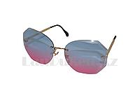 Солнцезащитные очки-авиаторы геометрической формы, цветные линзы, фото 1