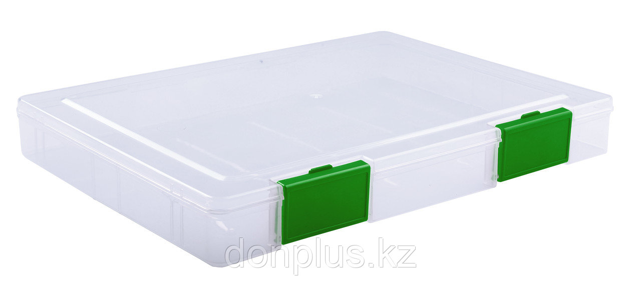 Папка СТАММ для документов с защелками, зеленая
