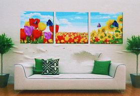 """Картины по номерам """"Подсолнухи и тюльпаны"""""""