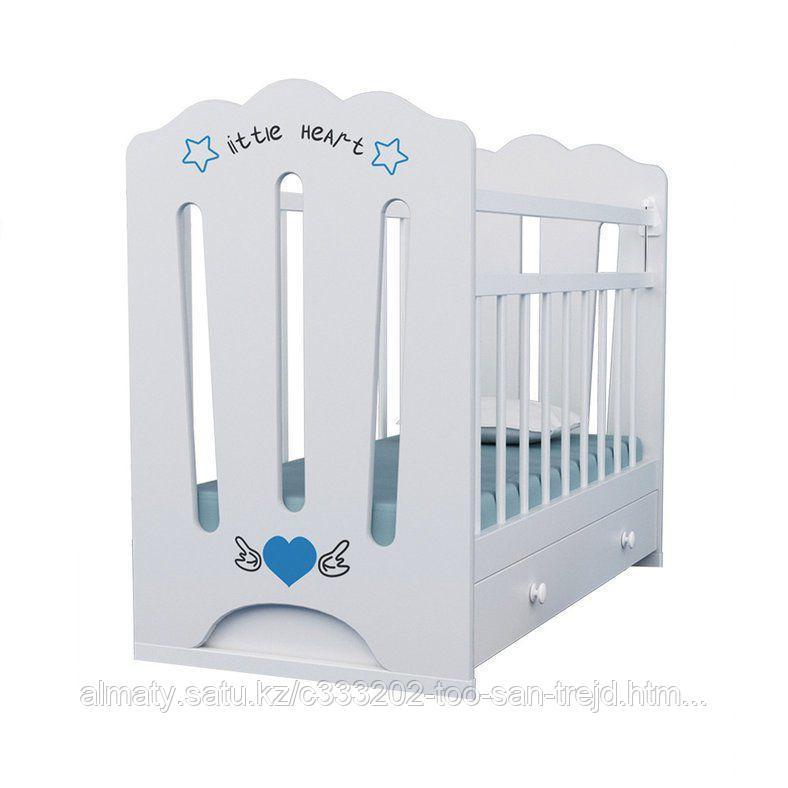 Детская кровать LITLLE HEART (бежевый+ящик)