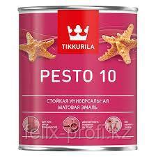Эмаль акриловая мат.  PESTO 10 А  9 л*