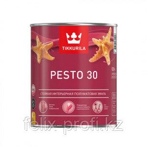 Эмаль акриловая п/мат. PESTO 30 А  0.9 л