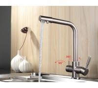 Frap 4352-5  смеситель для кухни  с фильтром сатин