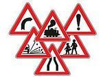 Дорожные знаки, ограждения, конусы