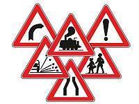 Дорожные знаки, ограждения, ко...