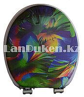 Сидение с крышкой для унитаза и крепленьями Vanna lux, разноцветное