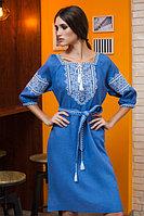 Платья с вышивкой средней длин...