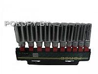 Набор универсальных длинных головок L=63 мм 8-19 мм 10 предметов