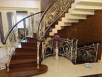 Кованные перила на винтовую лестницу