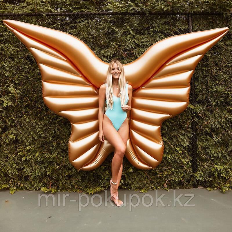 Пляжный надувной матрас Золотые крылья ангела, 250 см