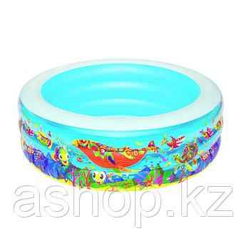 Бассейн надувной Bestway Подводный мир, 400 л, Возрост: От 6 лет, Поливинилхлорид, Цвет: Разноцветный