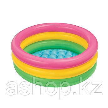 Бассейн надувной Intex Радуга, 56 л, Возрост: От 2 лет, Поливинилхлорид, Цвет: Разноцветный