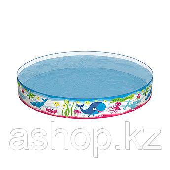 Бассейн каркасный Bestway Fill 'N Fun Pool, 435 л, Возрост: От 1 до 3 лет, Поливинилхлорид, Цвет: Разноцветный