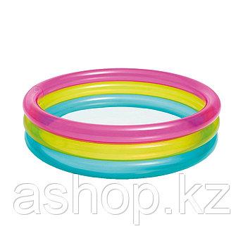 Бассейн надувной Intex Радуга, 57 л, Возрост: От 1 до 3 лет, Поливинилхлорид, Цвет: Разноцветный