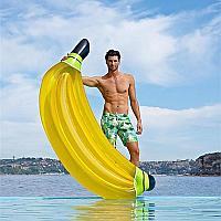 Пляжный надувной матрас Банан желтый, 188 см
