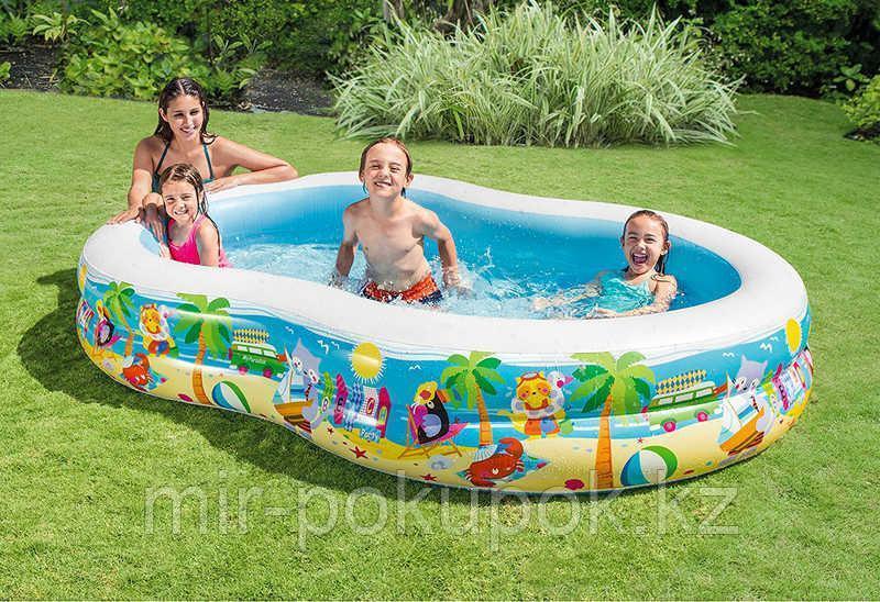 "Intex 56490, надувной семейный бассейн ""Райская лагуна"" 262х160х46 см"