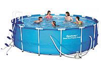 Каркасный бассейн круглый Bestway Steel Pro MAX 457 см 122 см 56438(56100)
