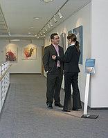 Напольный информационный стенд Durable Info Sign A4 серебристый, фото 4