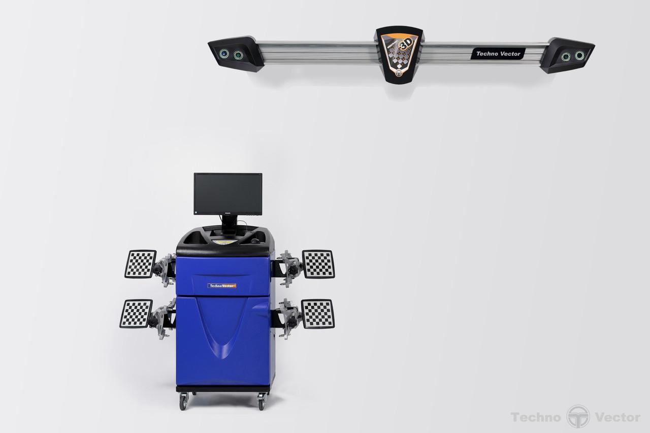 Техно Вектор 7  V 7204 K A СТЕНД СХОД-РАЗВАЛ 3D