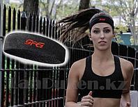 Спортивная повязка на голову черная, фото 1