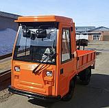 Электротележки грузоподъемностью 2 тонны со стеклопластиковой кабиной, с пневматическими шинами, фото 3