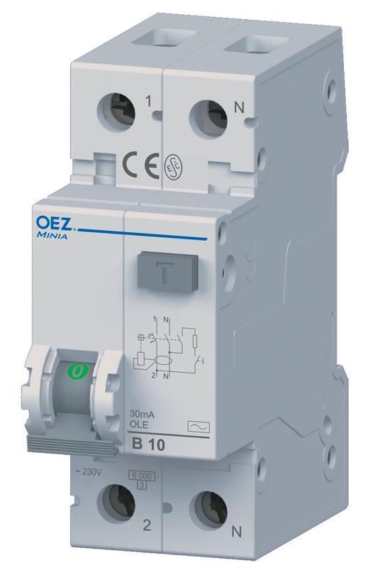 Устройство защитного отключения с максимальной токовой защитой OLE-16C-1N-030AC OEZ:38322