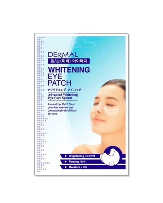 Тканевые патчи для кожи вокруг глаз Dermal Eye Patch Whitening 6G/1Pair
