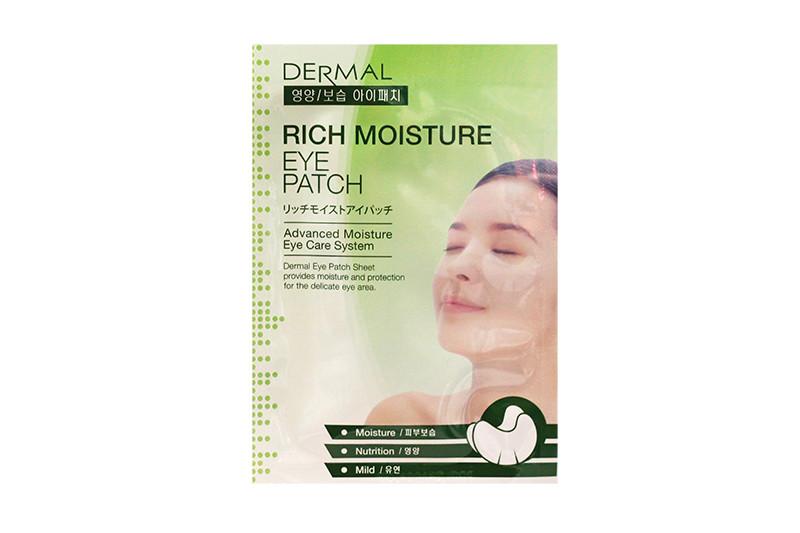 Тканевые патчи для кожи вокруг глаз Dermal Eye Patch Rich Moisture 6G/1Pair