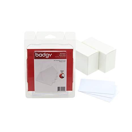Evolis CBGC0030W Чистые пвх карточки - 30 MIL - 0,76мм - 1 упаковка из 100 карточек