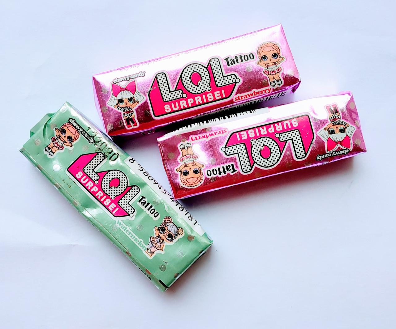 """Жевательная конфета """"LOL"""" с татуировкой 9 гр."""