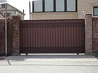 Ворота откатные профильные