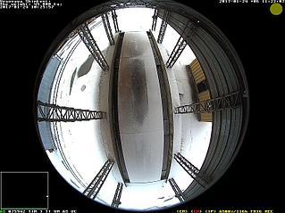 Камера Mobotix Q25-Sec с Hemispheric линзой на 360 градусов. Для контроля  автовесового