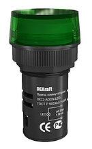 Индикатор ADDS ЛК-22 мм зеленый LED 220В DEKraft
