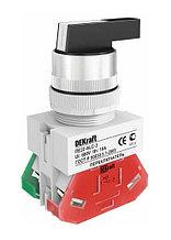 Переключатель ALC-3 ПЕ-22 мм на 3 полож. I-O-II удлин. ручка 1НО+1НЗ DEKraft